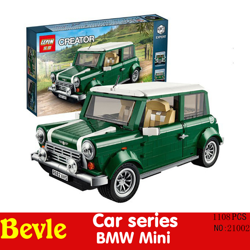 Lepin 21002 110 Technic series MINI Cooper Model Minifigures Building Blocks Compatible legeo 10242 With Original Box