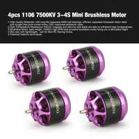 4pcs 1106 7500KV 3-4S Mini Brushless Motor for RC Remote Control FPV Racing Drone Multicopter Propeller DIY Spare Part hi