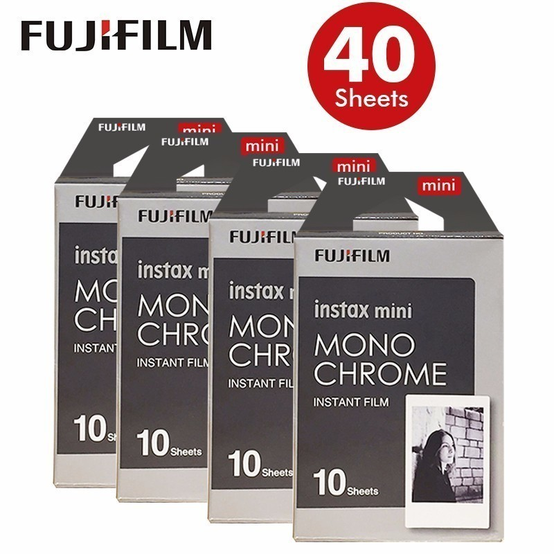 New Fujifilm Instax Mini 8 Film Monochrome 40sheets For Mini 300 7s 50s 50i 90 25 Share SP-1 Instant Photo Camera new 5 colors fujifilm instax mini 9 instant camera 100 photos fuji instant mini 8 film