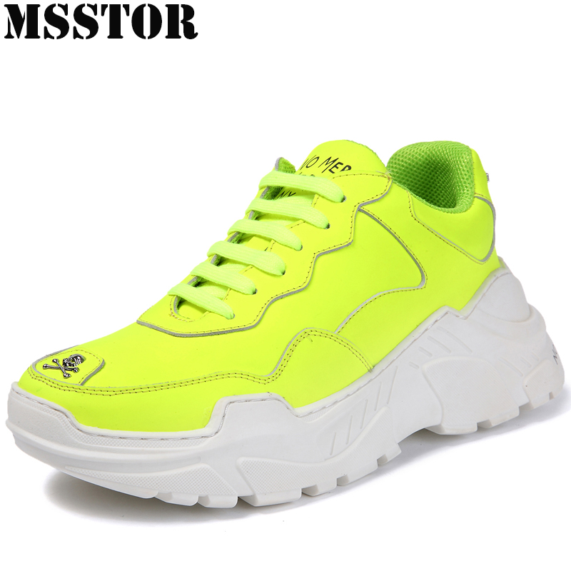 MSSTOR 2018 Women Men Sneakers Genuine Leather Running Shoes For Women Outdoor Athletic Jogging WalkingMen Sport Shoes Man Brand tba genuine leather hiking shoes for women men lovers outdoor sport shoes man brand high top ankle boots women s men s sneakers