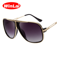 Winla Sunglasses Women Brand Designer Vintage Sun Glasses for Women Men Luxury Square Style Metal Legs Gradient Oculos De Sol