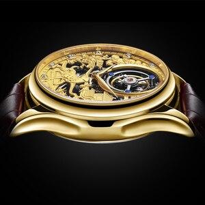 Image 2 - リアルトゥールビヨン GUANQIN 2019 時計サファイア腕時計メカニカルハンド風スタイル時計メンズ腕時計トップブランドの高級レロジオ masculino