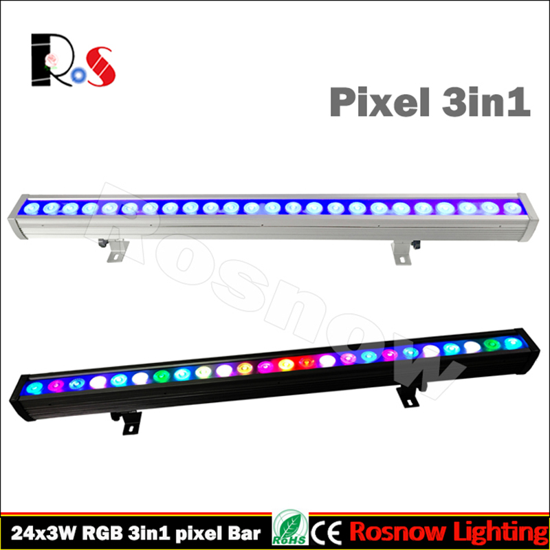 US $579 0  4pcs/lot 24pcs 3W RGB LED wall washer pixel led bar water proof  strip building wash dj outdoor tour lighting-in LED Bar Lights from Lights
