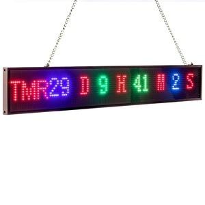 Image 4 - 66cm P5 RGB מלא צבע 16*128 פיקסל Led סימן אנדרואיד IOS WIFI מרחוק לתכנות גלילה הודעה פרסום תצוגת לוח
