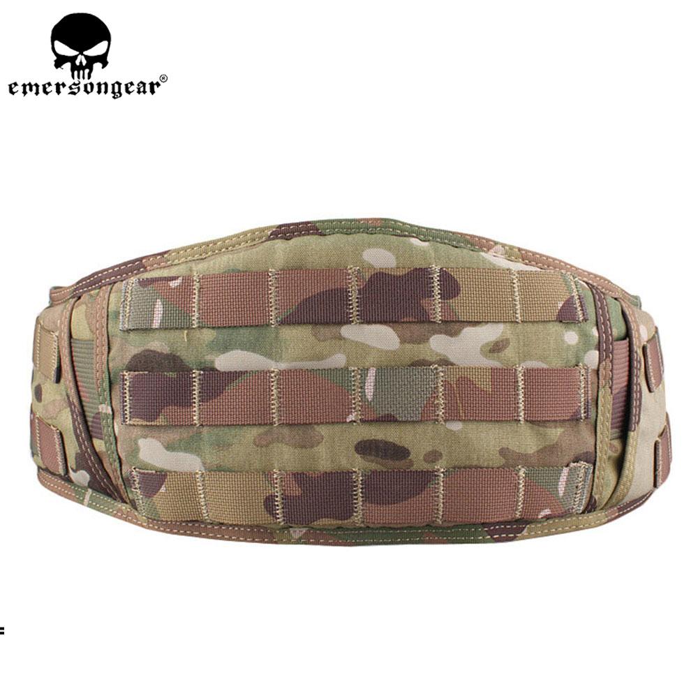 EMERSONGEAR Heavy Duty Waist Belt Molle Padded Belt Combat Army Outdoor Hunting Tactical Cummerbunds Belt Multicam EM9086