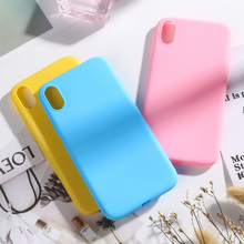 Candy Color Case For iPhone 7 XR XS MAX X Cases Funda Cover Coque for 8 Plus Phone iPhone6S iPhone7 5S 5