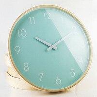 Birch Wood Watch Wall Clock Modern Brief Rustic Wool Fashion Mute Clock And Watch