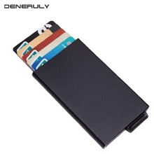 Ultra Thin Small Card Holder RFID Blocking Wallet Mens Purse Minimalis Travel Credit Porte Carte Zipper Carteira