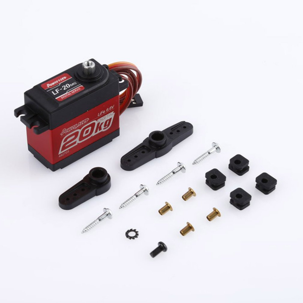 High Torque Aluminum & Copper Power HD 4.8-6.6V DC Metal Gear 20KG Digital Servo baja Waterproof servo for baja For RC Boat Car new spring rc sm s4315m all metal gear 15kg servo for rc car boat robot high torque dual ball bearing 15kg rc parts 1 jt fci