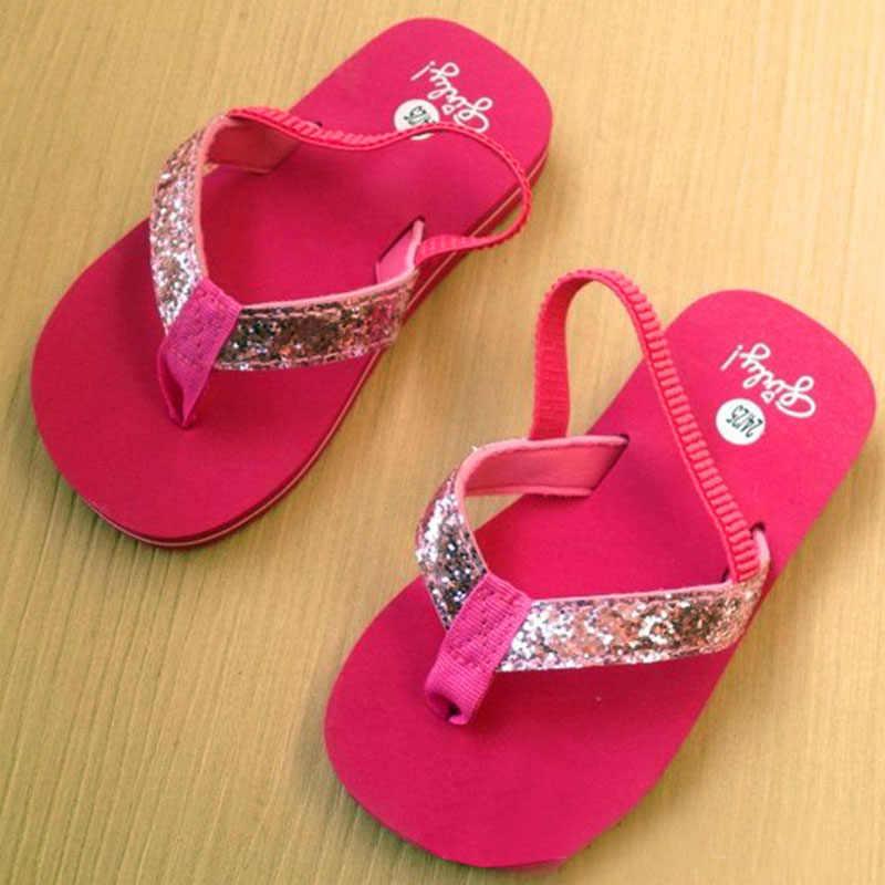 Sea Kids Beach Girls Sandals white black blue yellow green gray purple for girl bling Kid Water Children Summer princess Shoese