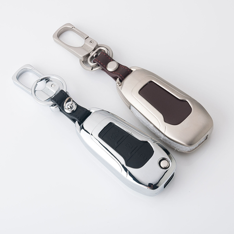 Car Stying Accessories Car Key Case Fit For Ford 2014 2015 2016 Focus Mondeo Kuga Eco