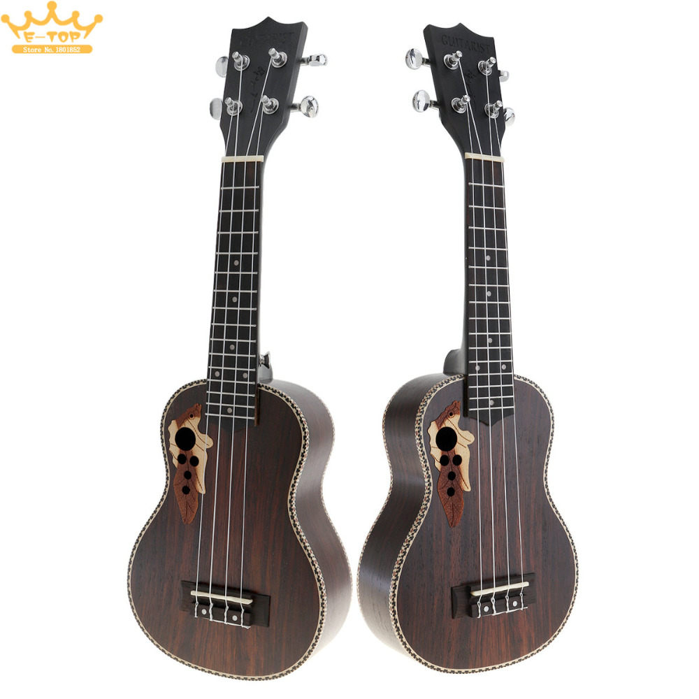 21 Inch 4 Strings Full Rosewood Acoustic Ukelele Uke Hawaii Guitar Guitarra Instrument with Italian AQ String все цены
