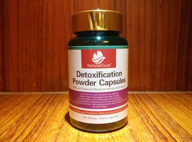 NaturalCure Desintoxicación Polvo Caps-dulos, expulsar las Toxinas, los residuos y la Contaminación de Su Cuerpo, limpiar Sus Órganos de Forma Segura