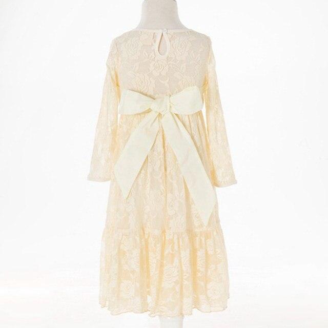 Online-Shop Kinder Mädchen Spitze Maxi Dress Long Sleeve Floral ...