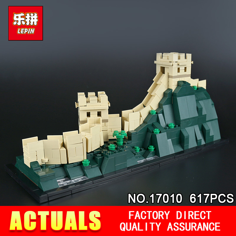 New Lepin 17010 617Pcs Architecture Building Series The 21041 The Great Wall Set Building Blocks Bricks Toys For Kids Gifts great wall style building home with jim spear