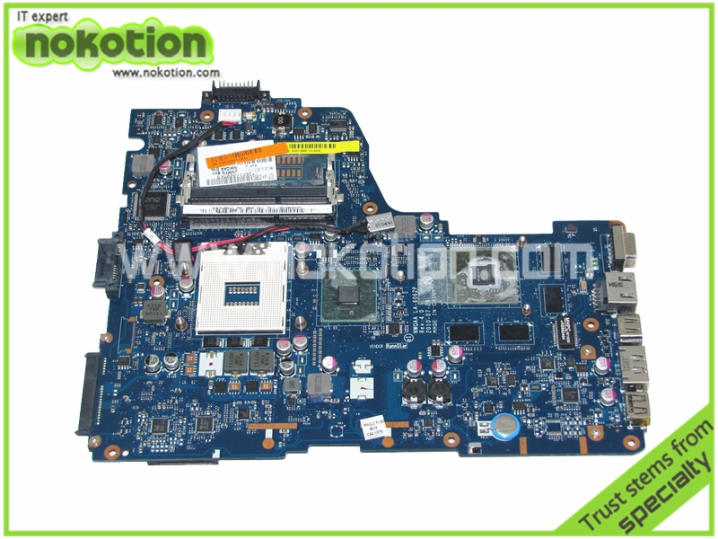 NOKOTION LA-6062P K000109880 Laptop Motherboard for Toshiba Satellite A660 A665 Intel HM55 NVIDA N11P-GE2-A3 DDR3 nokotion for toshiba satellite a100 a105 motherboard intel 945gm ddr2 without graphics slot sps v000068770 v000069110