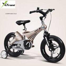 Nowy dla dzieci rower 12/14/16 cal koła rama ze stopu magnezu bezpieczeństwa dla dzieci hamulec tarczowy zawieszenie 2/ 4/6 lat dziecko buggy rower