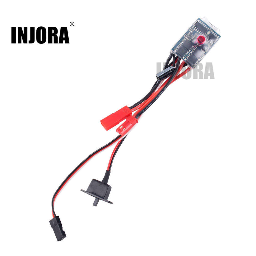 INJORA 1 stks 10A ESC Brushed Speed Controller voor 1/12 1/16 1/18 1/24 RC Auto Crawler WPL C24 B16 B24 b36 RC Boot