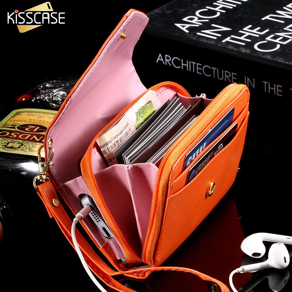 5.5'' Handbag Wallet Pouch Case for iPhone 5S SE 6 7 Plus 5.5 inch For Leather Case For Samsung