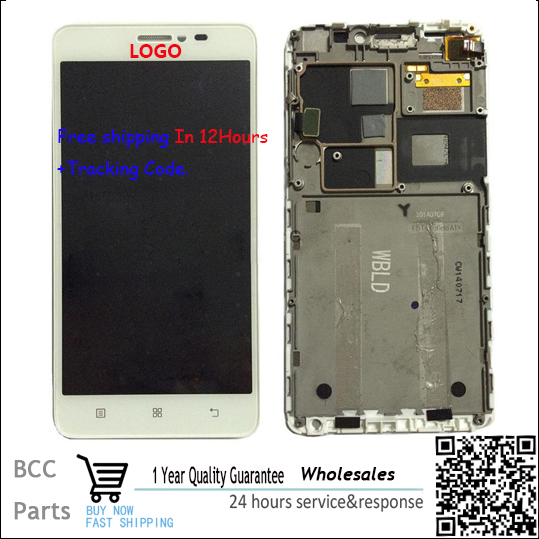 A+++ Original with Logo For Lenovo s850 S850T Black or White LCD display with Touch screen Digitizer Panel assembly with frame