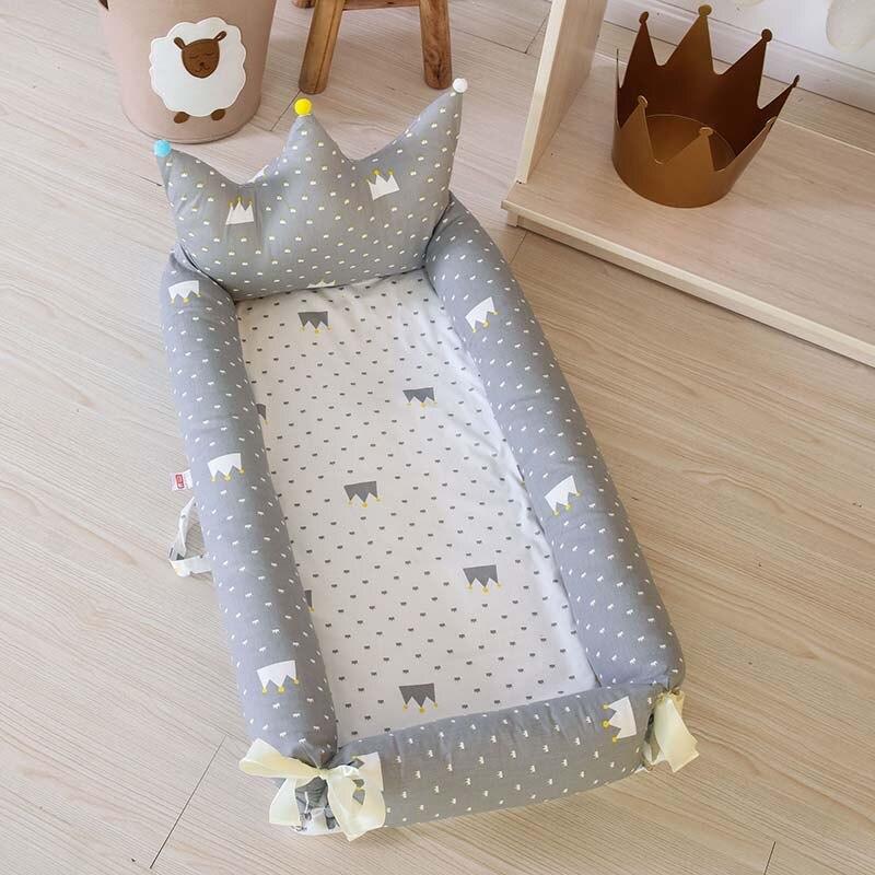 Lit bébé Portable pour les nouveau-nés impression de bande dessinée amovible et lavable couronne bébé nid pliant lit pour enfants 0-18 M lit Bionic - 2