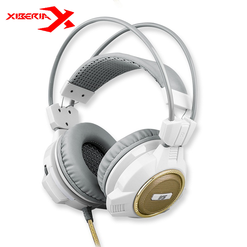 Original XIBERIA V5 Gaming Headphone Super Bass Stereo USB Wired Headset Microphone Over Ear Noise Lsolating PC Gamer Headphones super bass gaming headphones with light big over ear led headphone usb with microphone phone wired game headset for computer pc