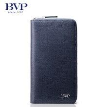 BVP – High End Top Quality Genuine Leather Men's Day Clutches Wallet Standard Long Purse Money Organizer Man Handbags J25