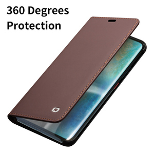 Image 4 - QIALINO Luxury Genuine Leather Phone Cover for Huawei Mate20 Pro Stylish Handmade with Card Slots Wallet Flip Case for Mate 20/X