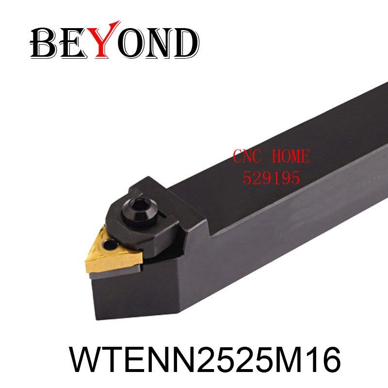 OYYU WTENN  WTENN2525 Lathe Turning Tool Holder WTENN2525M16 Boring Bar Korloy Tungsten Carbide Inserts TNMG160404 CNC