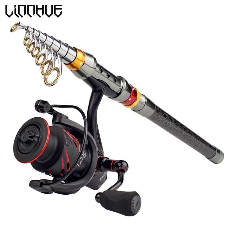LINNHUE Telescopic Fishing Rod Reel Combo 1.8m 2.1m 2.4m 2.7m 3.0m 3.6m Spinning Rod + Fishing Reel GS4000 Set for vara de pescaLINNHUE Telescopic Fishing Rod Reel Combo 1.8m 2.1m 2.4m 2.7m 3.0m 3.6m Spinning Rod + Fishing Reel GS4000 Set for vara de pesca