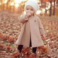 Cute Spring 2016 Kids Girls Winter Outwear Children Long A-shaped Coat Trench