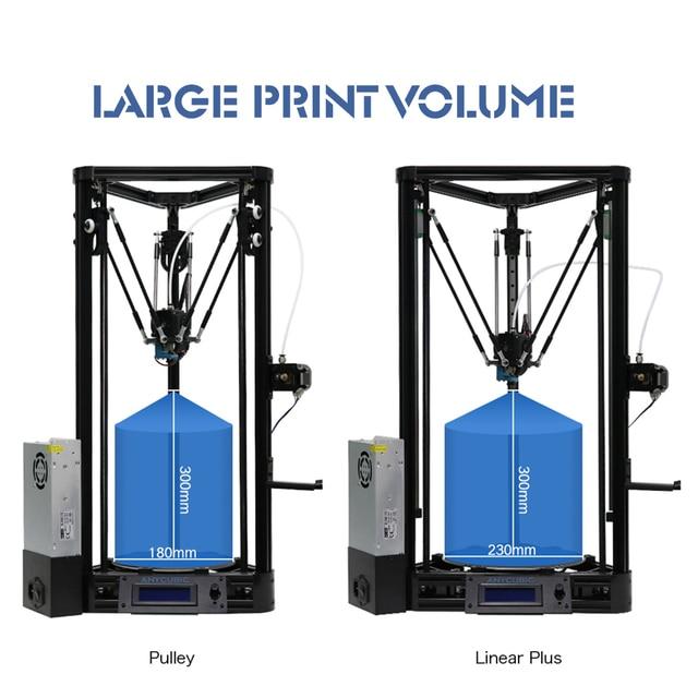 Anycubic 3D מדפסת Kossel הדפסה בתוספת גודל גאדג 'ט אוטומטי-רמת מודול פלטפורמה 3d מדפסת ערכות DIY impresora 3d דרוקר
