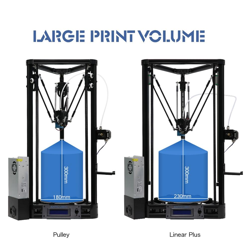 Anycubic 3d Drucker Kossel Print Plus Größe Gadget Auto-level-modul Plattform 3d Drucker Kits Diy Impresora 3d Drucker Büroelektronik Computer & Büro