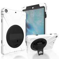 For Ipad Air Case Shockproof Heavy Duty 360 Rotation Smart Stand Silicon Pc Hard Cover For