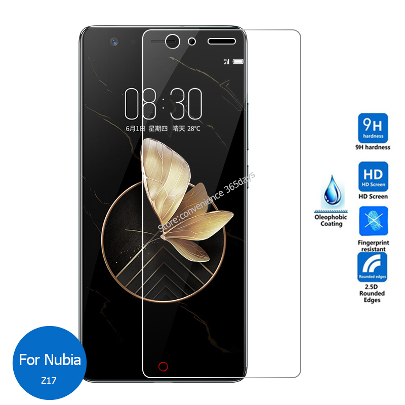 2PCS/Lot Tempered Glass For <font><b>Zte</b></font> <font><b>Nubia</b></font> Z18 <font><b>Mini</b></font> Z17 <font><b>MiniS</b></font> <font><b>Z11</b></font> M2 Lite N2 Play N3 <font><b>Screen</b></font> Protector on Z 11 17 18 Protective Glass image