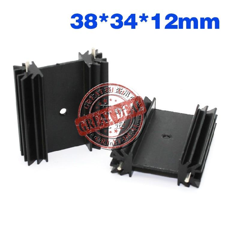 Free Shipping DHL Wholesale 100PCS Aluminum Heatsink 35*42*25.4MM TO-3P Radiator IC Heat Sink