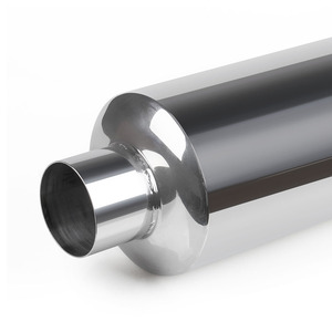 Image 5 - RASTP אוניברסלי באיכות גבוהה רכב צינור פליטה עמעם זנב נירוסטה פליטה מערכות מירוץ עמעם RS CR1010