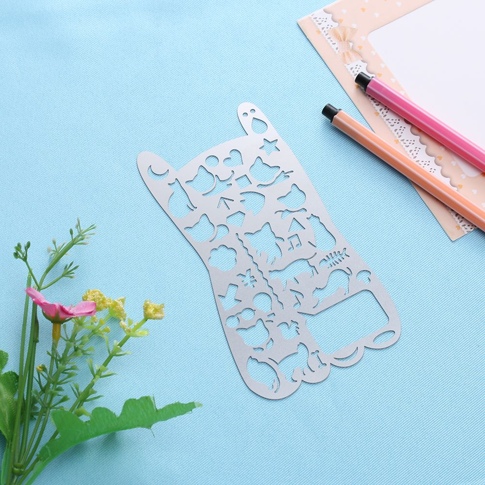 1pc Fashion Novelty Metal Cat Hollow Out Metal Diy Toys Drawing
