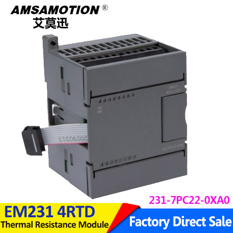 Compatible Siemens S7 200 4RTD EM231 4Input Analog Expansion Module 6ES7 231 7PC22 0XA0 Thermal Resistance