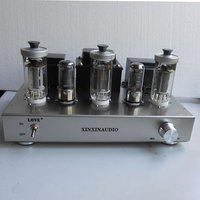 Class A Single ended 300B Tube Amplifier HiFi 5Z9P + 6J8P + FU50 Vacuum Tube Amplifier 12WX2 Stainless Steel Chassis 2017 New