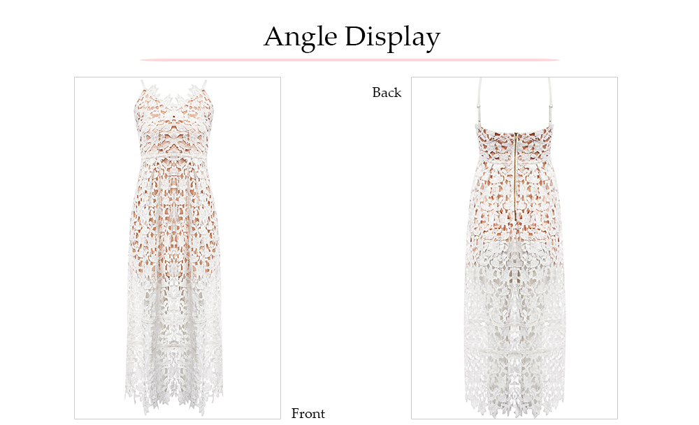 VESTLINDA Spaghetti Strap Backless Hollow Out Crochet Lace Dress Women Vestidos Mujer Robe Femme 2017 Summer Sexy Maxi Dress 24