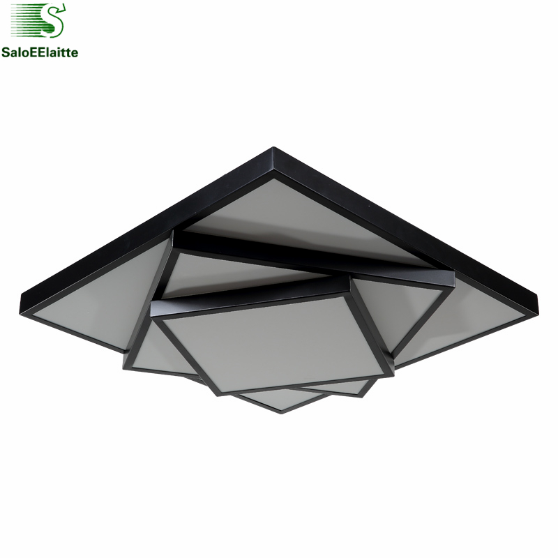 99 Off 2017 New Modern Led Ceiling Light Swimming Led: Modern Simple Square Metal Led Dimmable Ceiling Lamp
