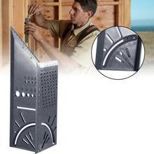 Plástico para carpintería 3D, 90 grados, multifuncional, medidor cuadrado, transportador de ángulo sobre el ángulo de regla tipo T