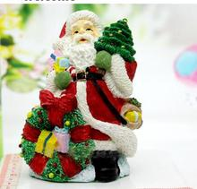 Christmas 3d Santa Claus holding the tree silicone candles mould soap molds for home decorations