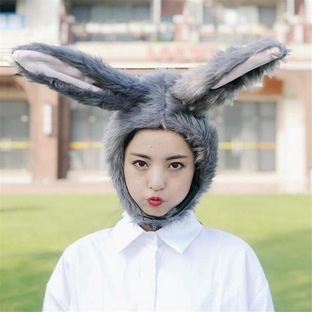 Шапка серый кролик 1