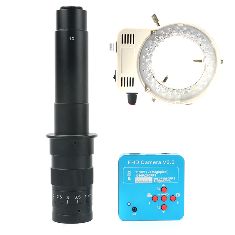 1080 p 60FPS 2 karat 21MP 100X 180X 300X C Mount Objektiv Labor HDMI USB Industrielle Elektronische Digital Video Mikroskop kamera PCB Löten