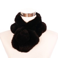 ZY87058 2016 Winter Hot Sale Women And Girls Fashion Lovely Knitted Real Rabbit Fur Neck Scarf