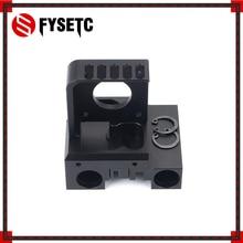 שחור אלומיניום סגסוגת X פיר תובלה ערכת Nema 17 מנוע הר + X מחוון + חגורת קליפ עבור Prusa I3 MK2 E3d טיטאן Aero מכבש