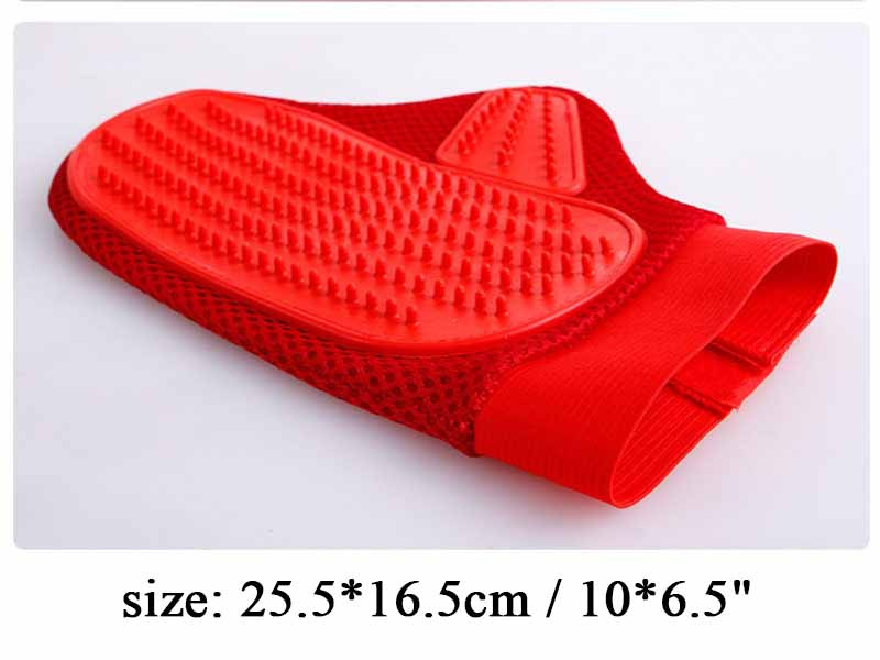 Hot Pet Grooming Products Rubber Dog Cleaning Massage Glove Remove Loose Hair Comb Brush For Dogs Cats Large Dog Supplies 106.52
