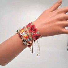 Go2boho MIYUKI Bracelet TIla Beads Bracelets Women Bohemian Red Heart Pulseras Mujer Moda 2019 Summer Crystal Jewelry Handmade